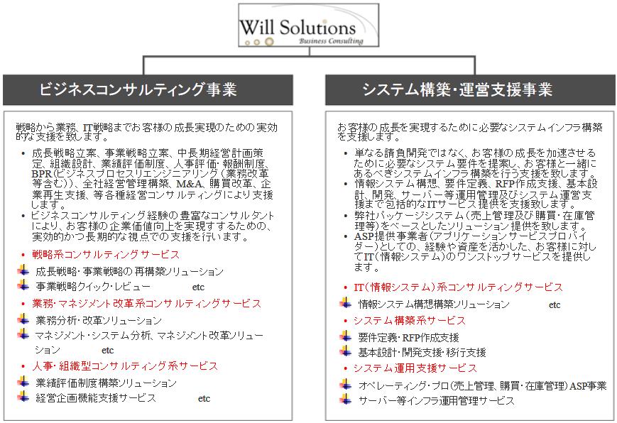 ウィルソリューションズの事業説明